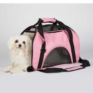 east side collection pink dog carrier