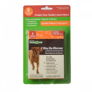 front view Sentry 7 way de-wormer for dogs