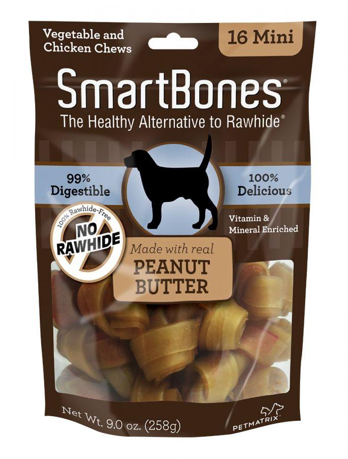Smart Bones Mini Peanut Butter Dog Chews 16 Pack Good