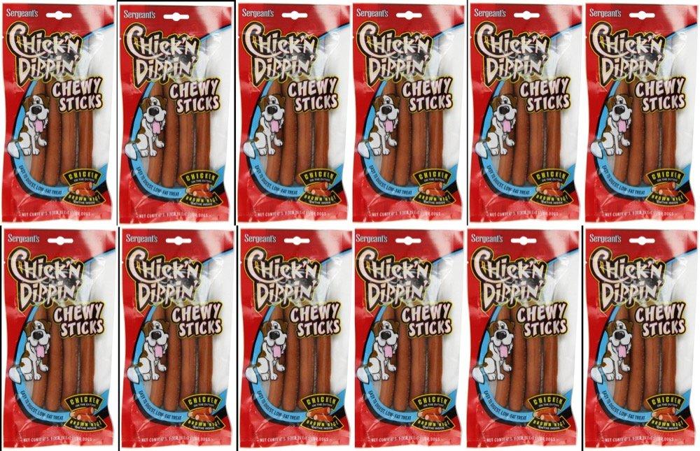 Sergeants Chick N Dippin Chew Sticks Case Of 12 Good Doggen