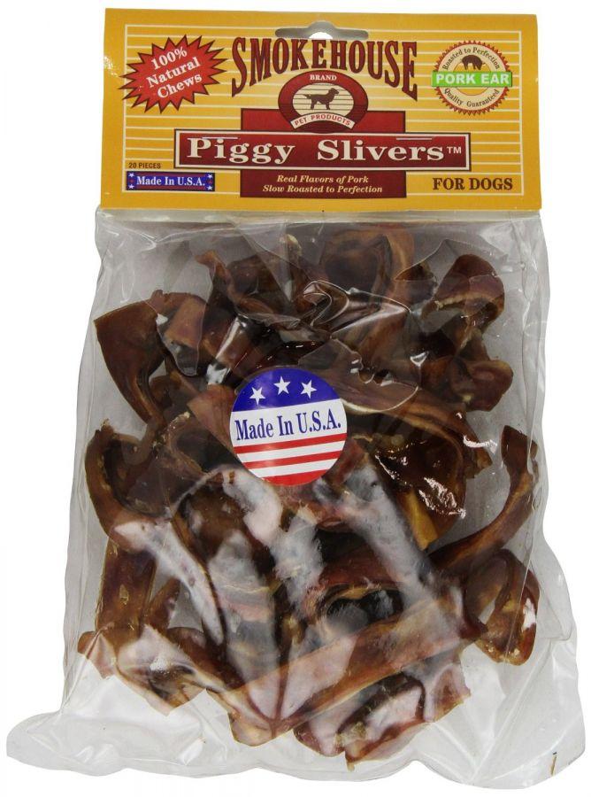 Smokehouse  Natural Piggy Slivers Dog Treats