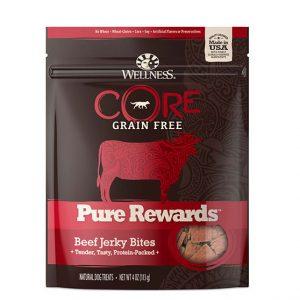 Wellness core beef jerky front view