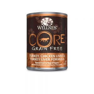wellness core grain free chicken can front view