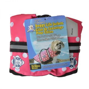 paws aboard life jacket front view